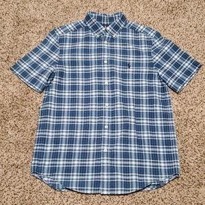 Ralph Lauren Boys Blue Plaid Short Sleeve Shirt